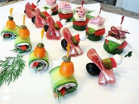 Канапе на праздничный стол — фото идеи оформления канапе на шпажках и простых канапе