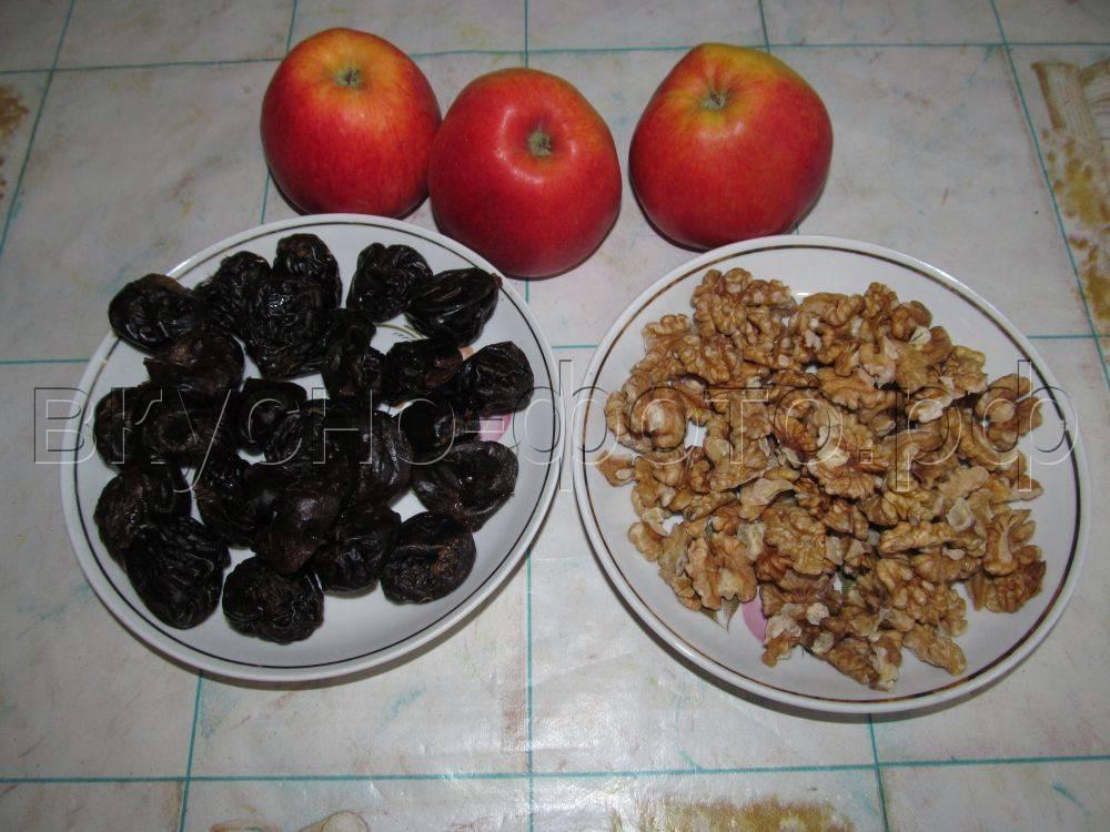 Черносливы, запеченные в духовке, яблоки с черносливом в духовке - рецепты