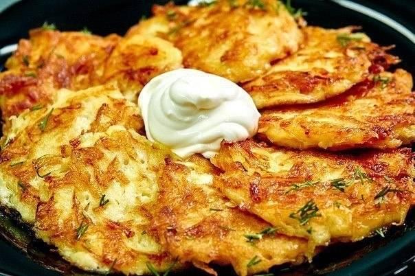 Драники картофельные с мясом и сыром рецепт
