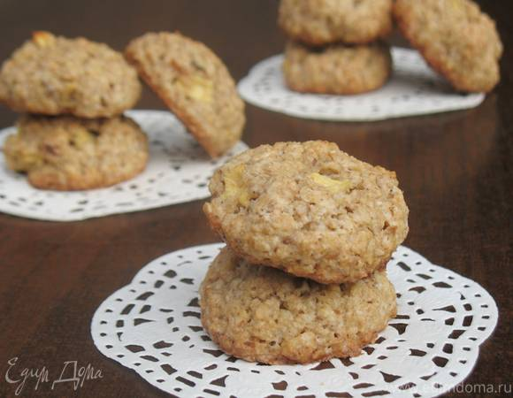 Печенье с творогом и яблоками