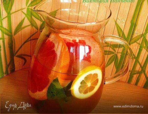 Лимонад из цитрусовых с мятой