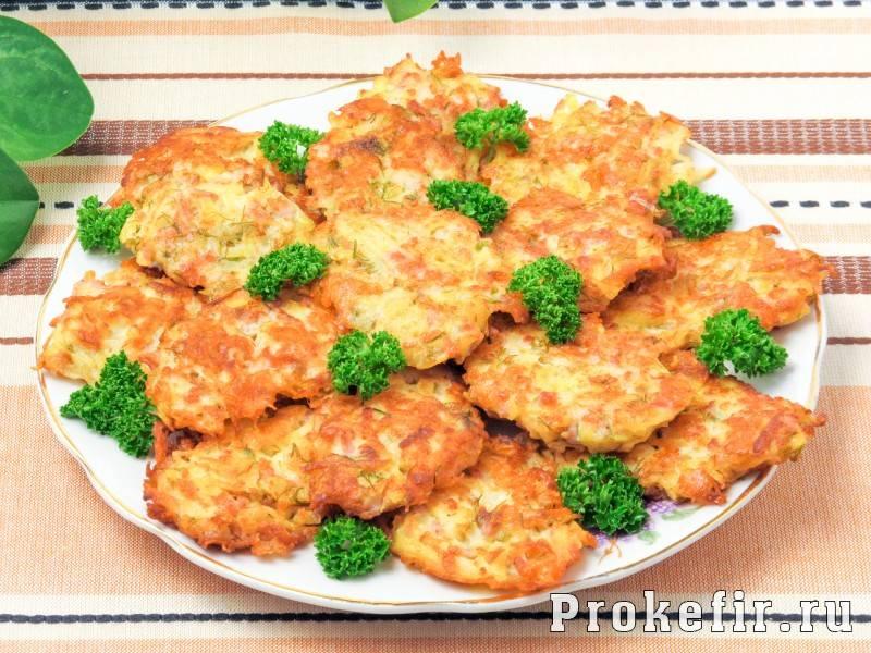 Картофельные драники с зеленью