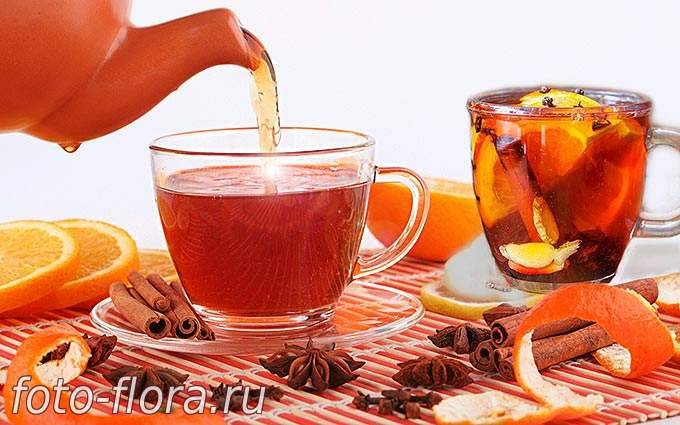 Польза и вред чая с апельсином
