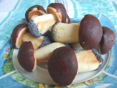 Оригинальное, красивое и очень вкусное печенье грибочки