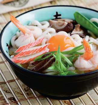 Лапша  рисовая-удон  с  морепродуктами