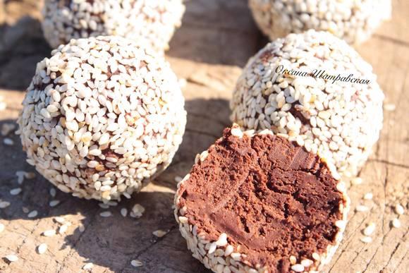 Трюфели из печенья без выпечки с морской солью