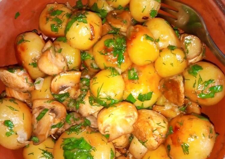 Как пожарить опята с картошкой