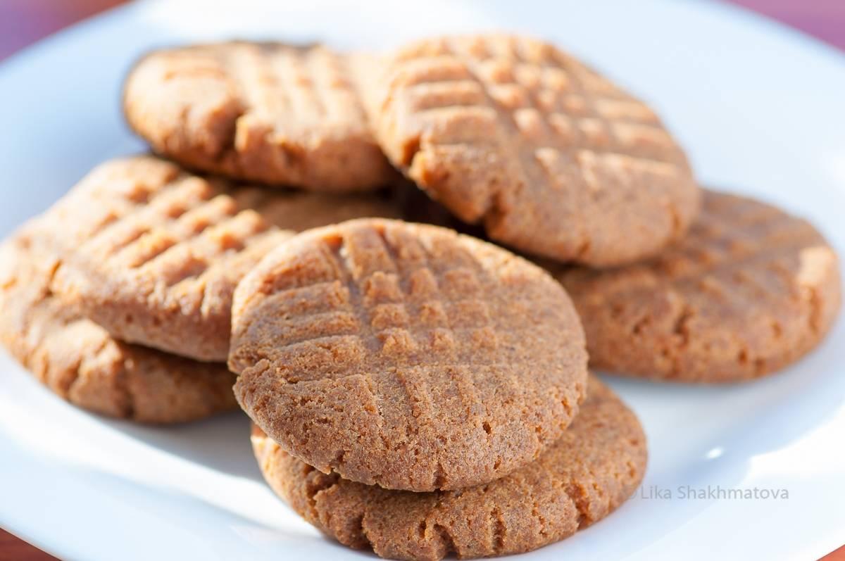 Арахисовое печенье без выпечки за 5 минут