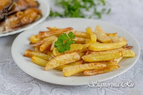 Картофель фри в духовке. рецепт с пошаговыми фото