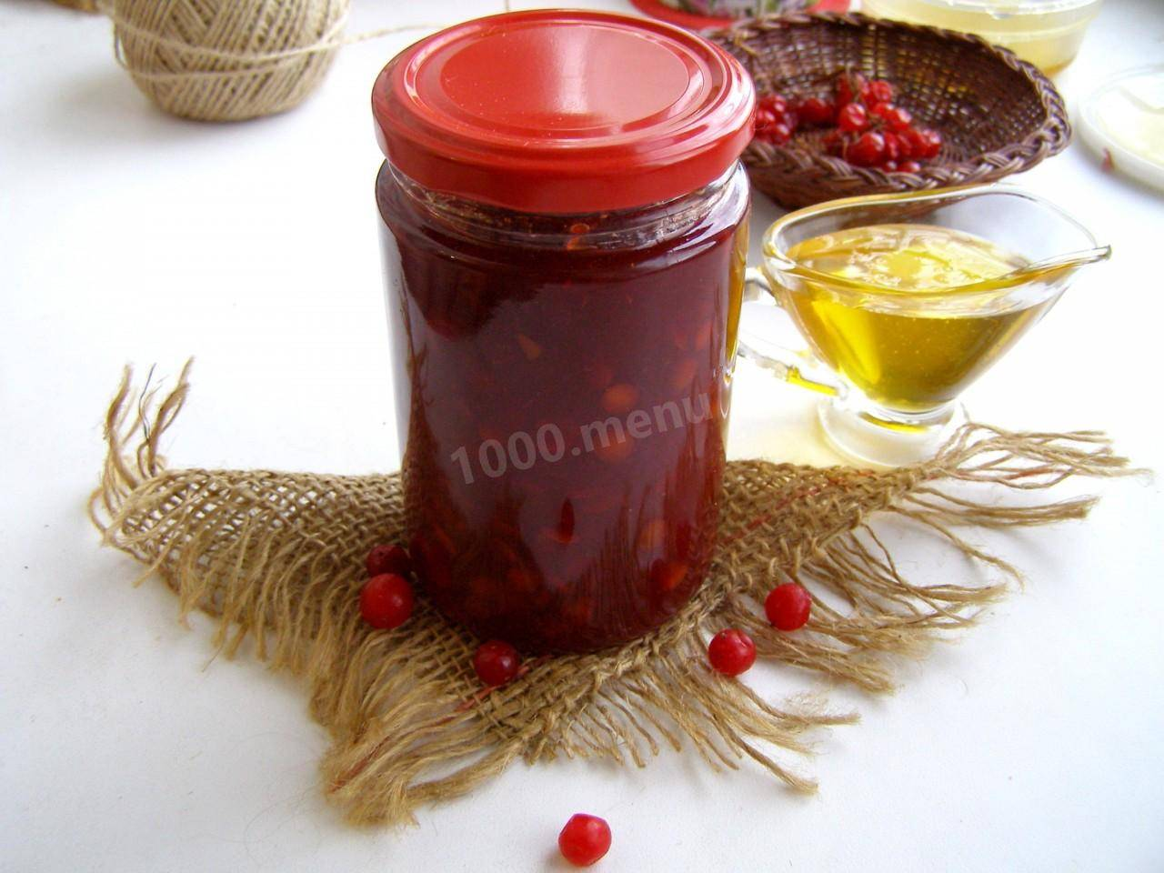 Калина с медом на зиму без варки - 11 пошаговых фото в рецепте