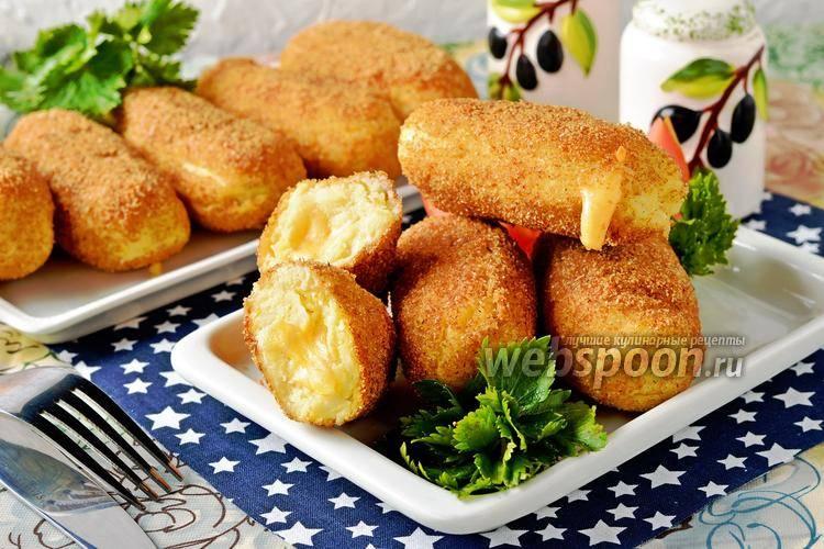 Картофель, запеченный в панировочных сухарях
