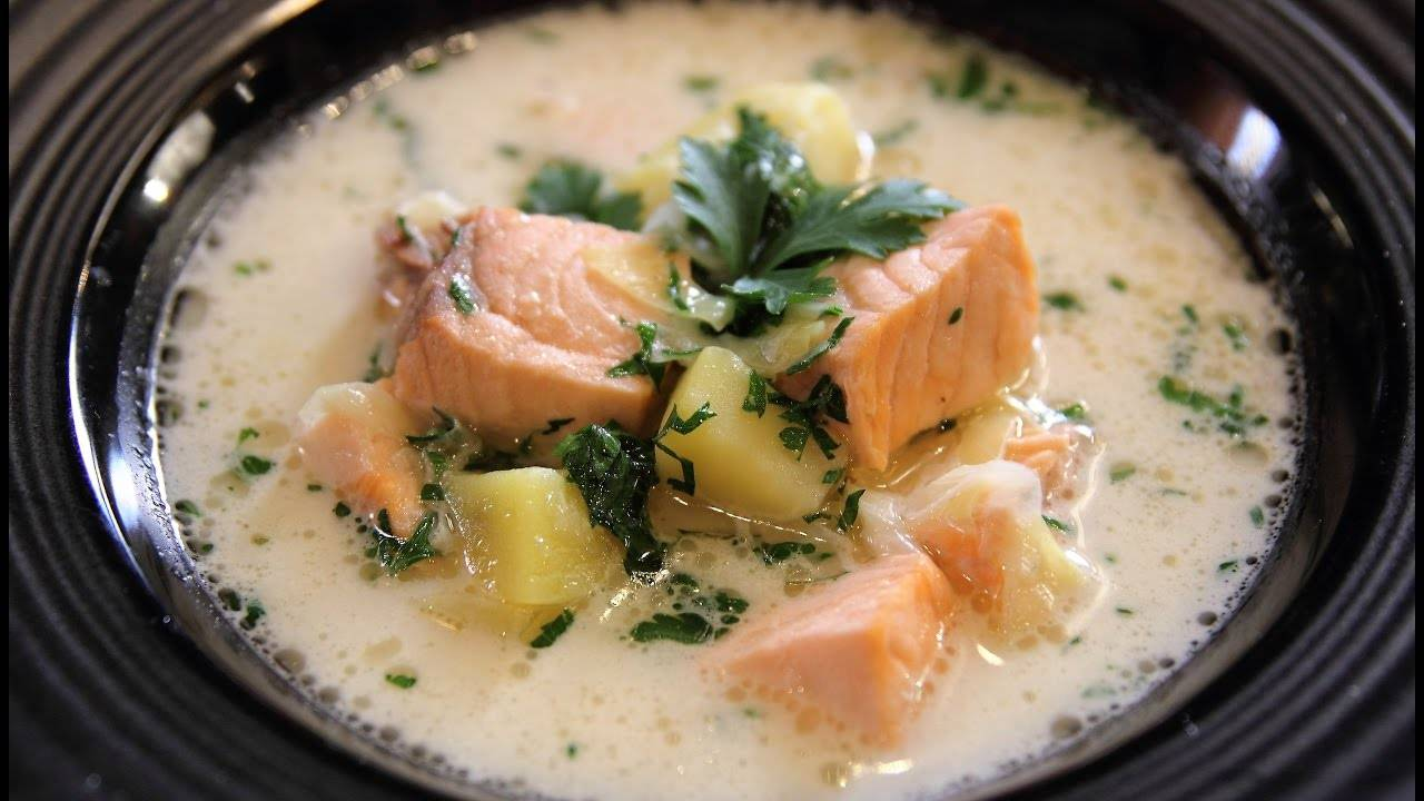 Финский суп с лососем и сливками: пошаговая готовка