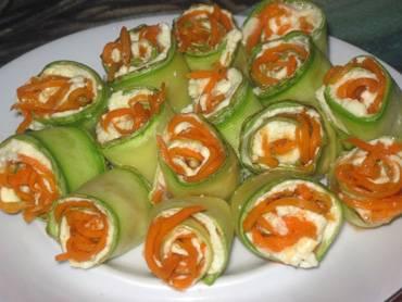 Кабачки, жаренные с чесноком и корейской морковью