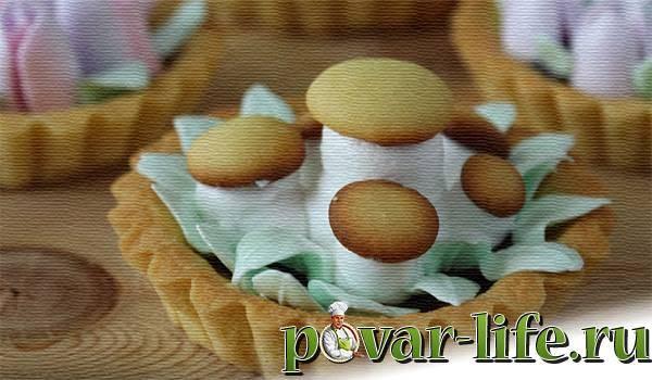 """Рецепт пирожного """"корзинка"""" - 10 пошаговых фото в рецепте"""