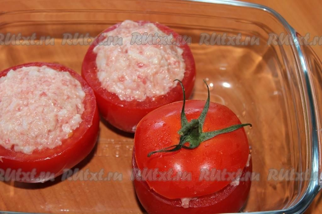 Рецепт фаршированных помидоров с фаршем из говядины