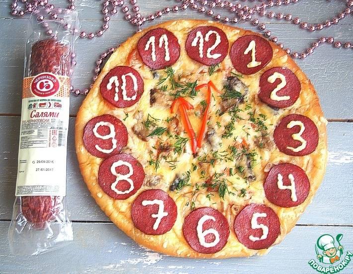 """Пицца """"ёлочки"""" и """"веночек"""""""