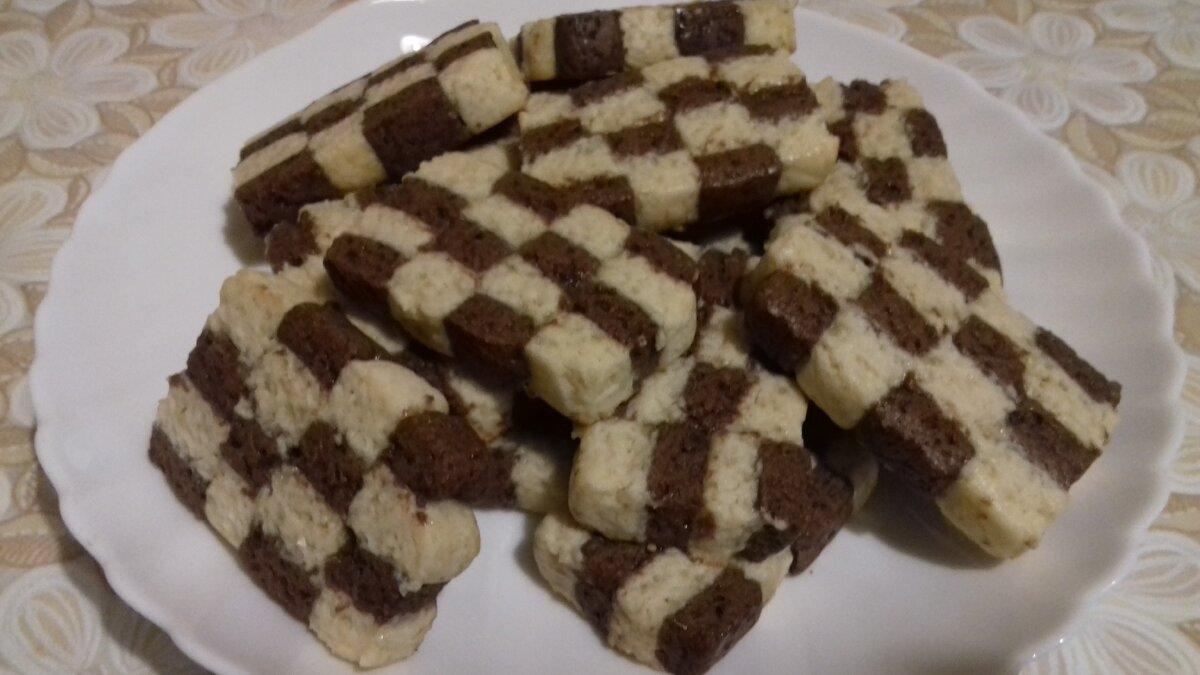 Шахматное печенье - damier | cookingtime.ru