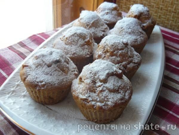 Кексы с яблоком и изюмом - 9 пошаговых фото в рецепте
