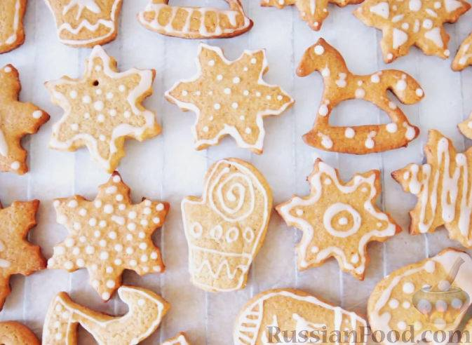 Имбирное песочное печенье с глазурью