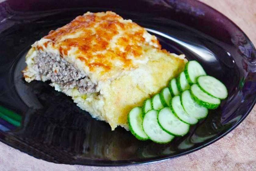 Картофельный рулет с капустой: рецепт с фото
