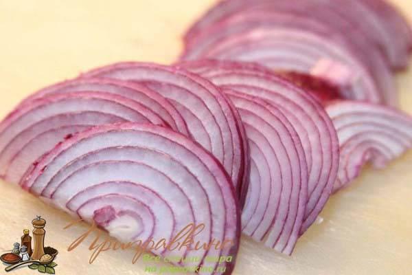 Как мариновать лук в уксусе для селедки