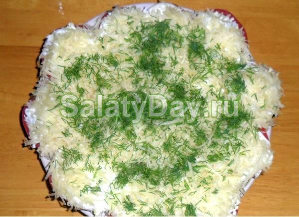 Салат из хризантем