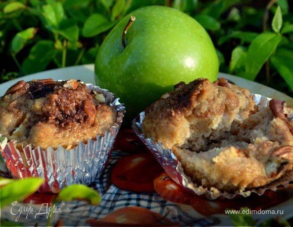 Сочные яблочные кексы с лимоном