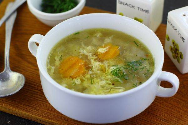Суп со взбитыми яйцами