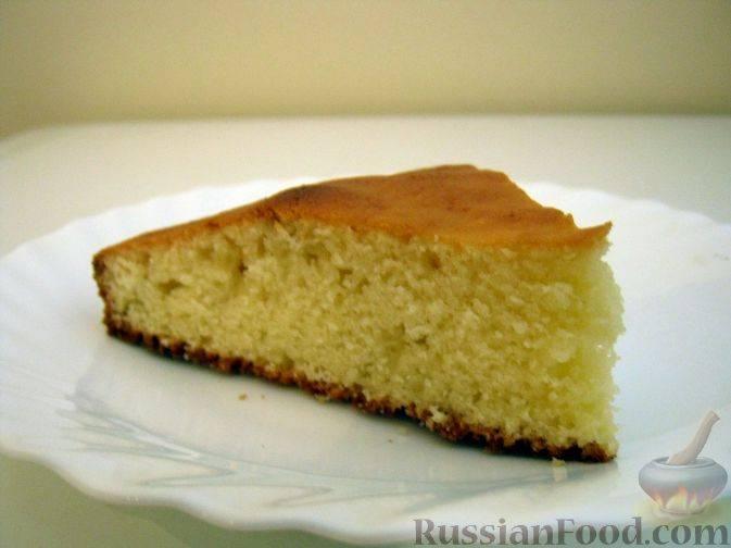Рецепт: простой лимонный пирог из манки   первый вегетарианский