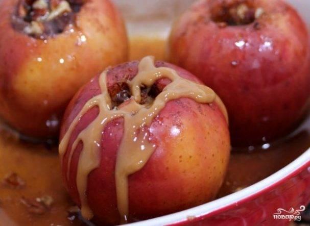 Яблоки в карамели — рецепты приготовления в домашних условиях + видео