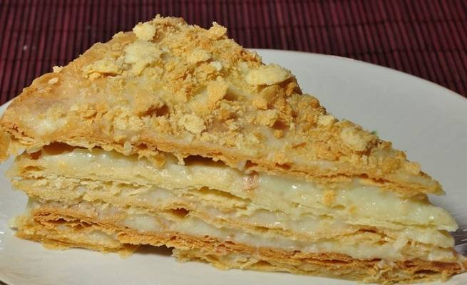 Домашний торт Наполеон с заварным кремом