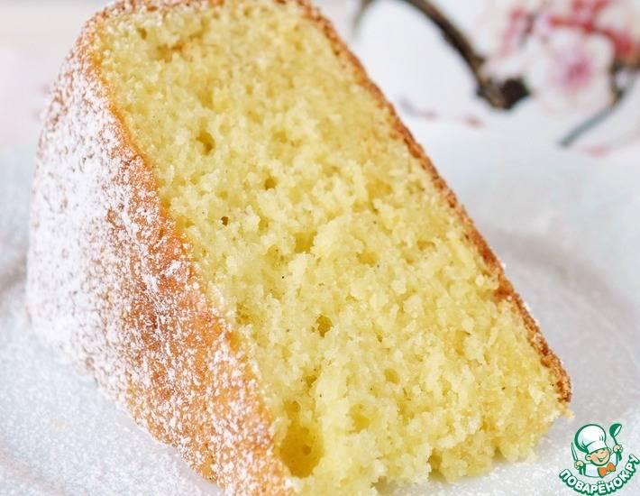 Бисквит на кефире - рецепт с фото