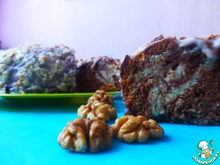 Пирог зебра, рецепт с фото пошагово