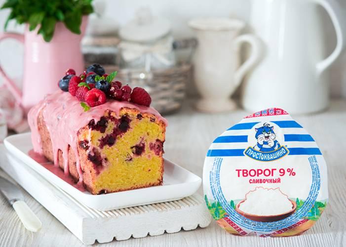 Творожные кексы с ягодным ассорти