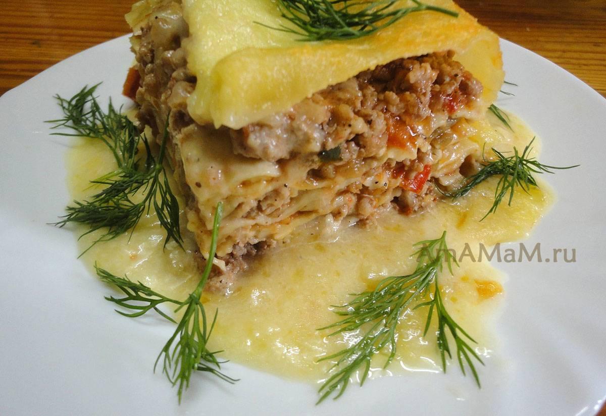 Классическая лазанья с фаршем в духовке. рецепт приготовления лазаньи и листьев лаваша