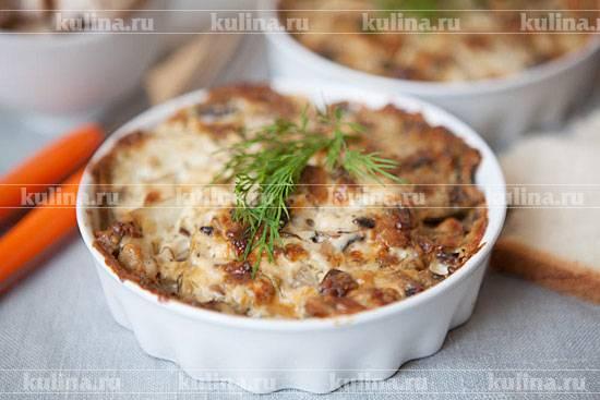 Картофельная запеканка с грибами в духовке — 5 рецептов вкусной запеканки