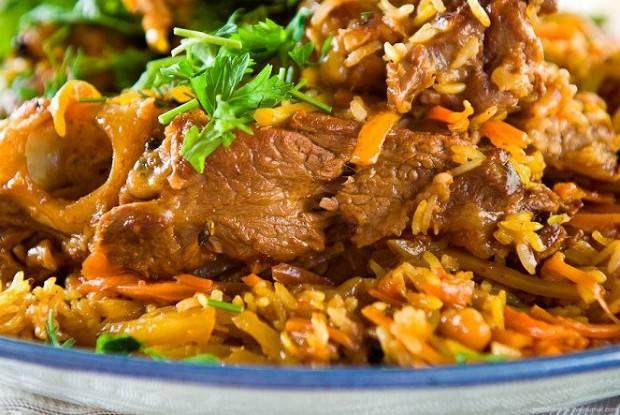 Плов из говядины - рецепты в мультиварке, казане на костре и на сковороде