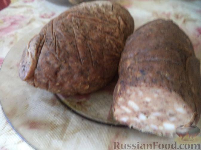Печёночная колбаса с гречкой
