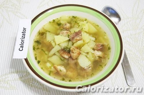 Суп картофельный с мясом