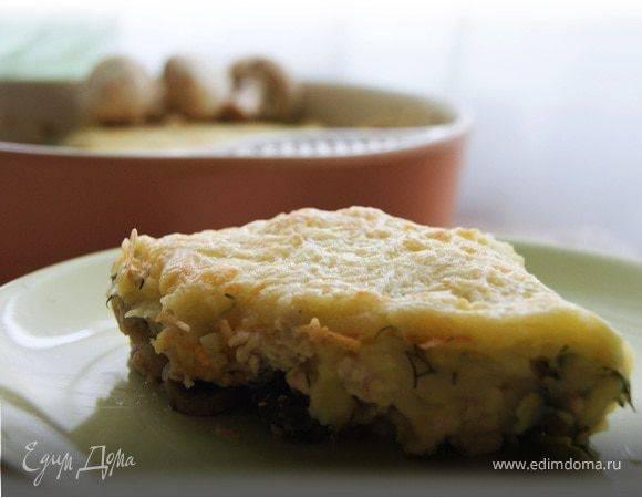 Картофельная запеканка с курицей и грибами - пошаговый рецепт с фото    разное