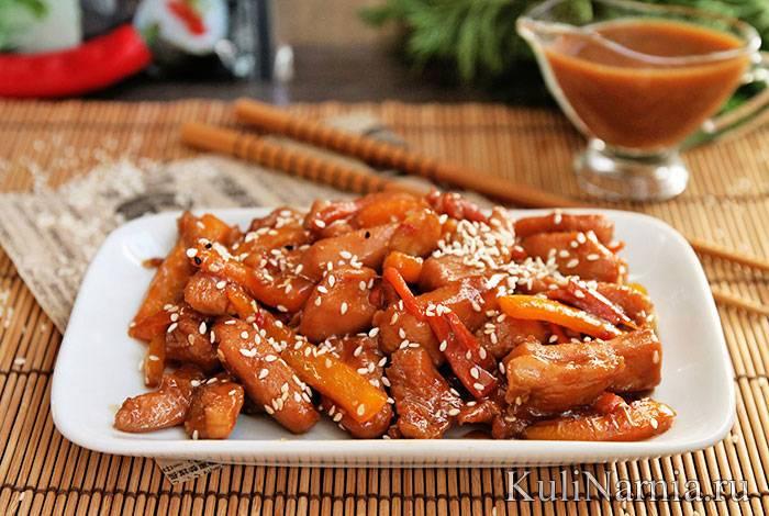 Курица в соусе терияки в духовке, рецепт с фото