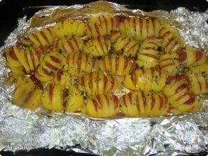 Аппетитная картошка «гармошка» в духовке: рецепт с фото пошагово