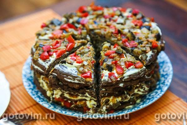 Печёночный торт из говяжьей печени. очень вкусные рецепты
