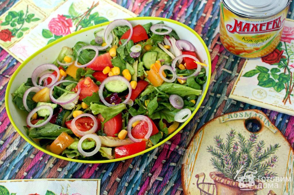 Подборка вкусных салатов с кукурузой