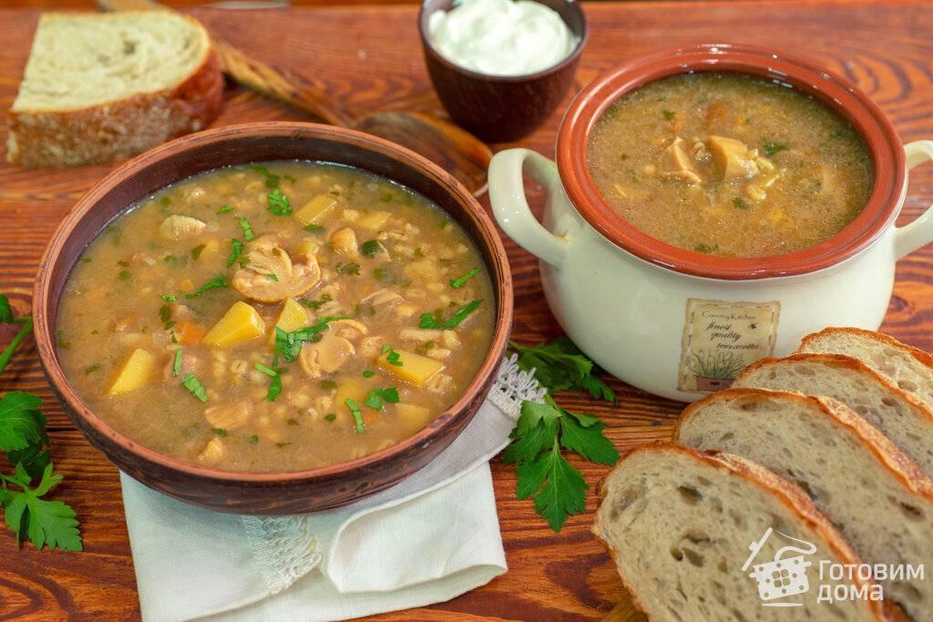 Грибной суп из грибов с перловкой
