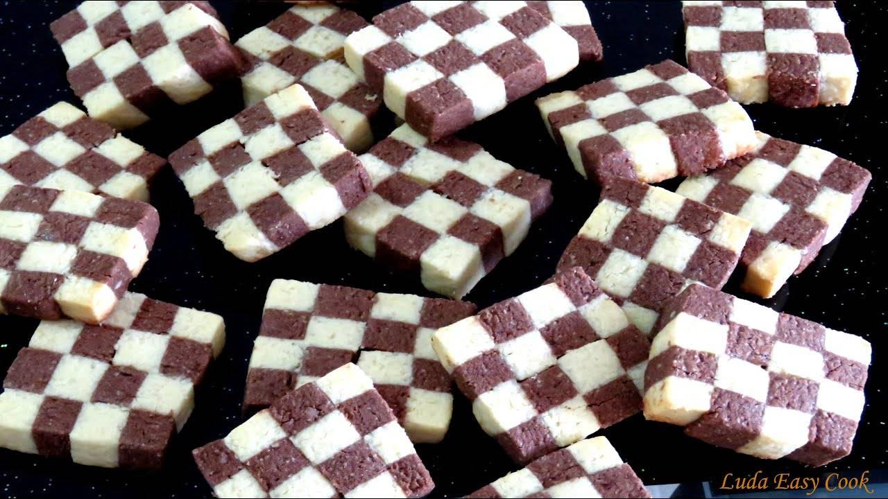 ️шахматное печенье рецепт с фото пошагово в духовке (двухцветное, с какао и вареными желтками)