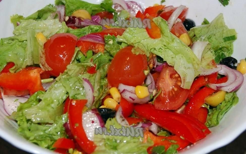 Салаты из овощей - рецепты
