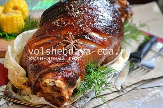 Свиная рулька, запеченная в духовке в фольге и в рукаве - рецепты с маринада и блюда с пивом, картошкой, квашенной капустой