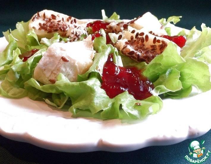 Салат с курицей ,тыквой и сыром камамбер. - кулинарный рецепт. миллион меню