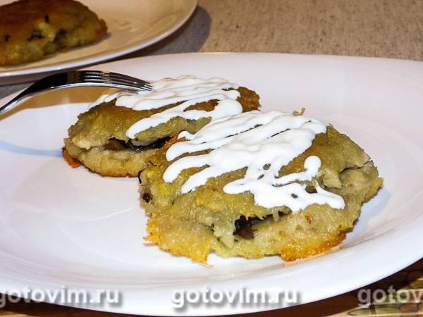 Приготовление картофельных драников с грибами и соуса к ним